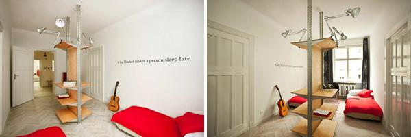 Το λευκό στους τοίχους είναι κυρίαρχο