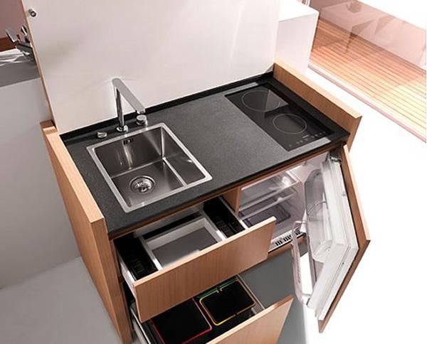 Κουζίνας: μία compact κουζίνα ιδανική για
