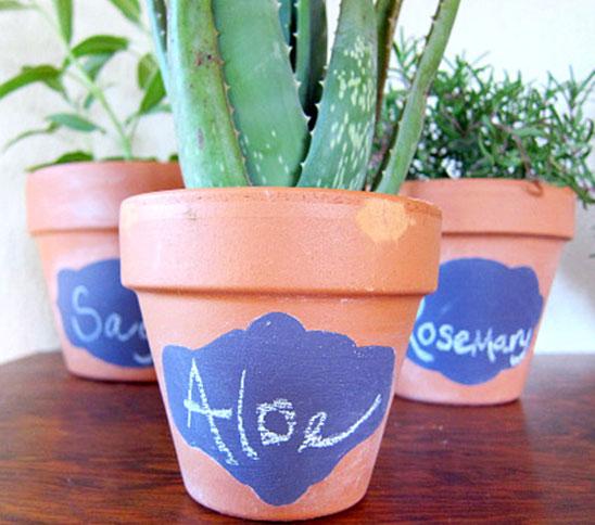 Φτιάξτε διακοσμητικές ταμπέλες για τις γλάστρες σας