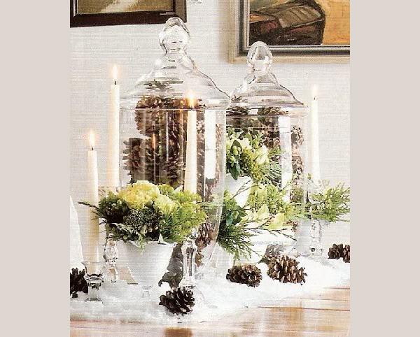 Γυάλες και βάζα με χριστουγεννιάτικο ντεκόρ 3