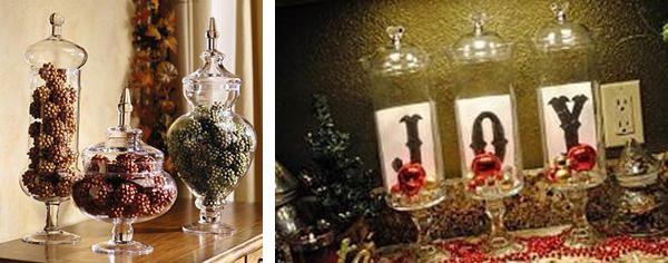 Γυάλες και βάζα με χριστουγεννιάτικο ντεκόρ 4
