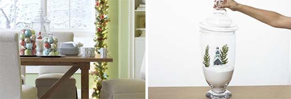 Γυάλες και βάζα με χριστουγεννιάτικο ντεκόρ 6