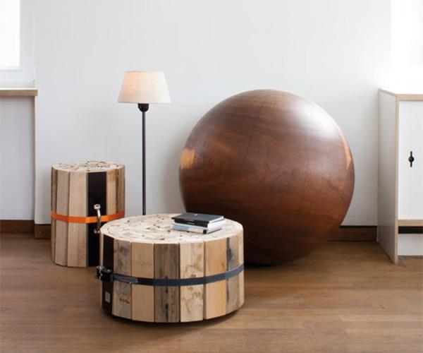 Τραπέζι μέσης από ξύλινους δοκούς