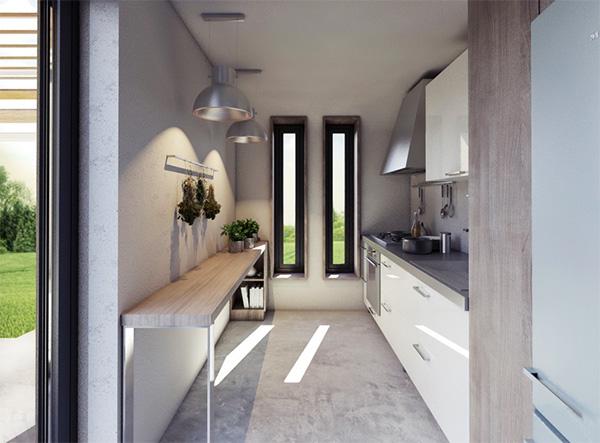 σχεδιασμός του 0+ house έγινε με βάση τις αρχές του βιοκλιματικού σχεδιασμού